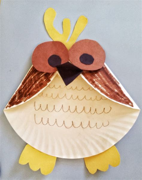 How To Make A Paper Plate Owl - activities for paper plate owl craft