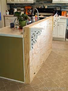 How To Build A Kitchen Island Bar Diy Corbels For A Breakfast Bar Reality Daydream