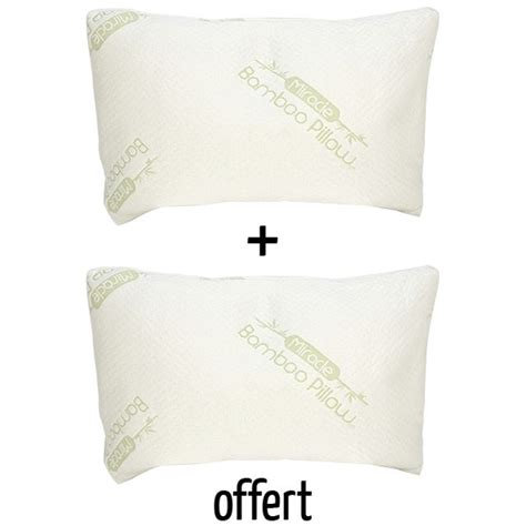 oreillers bambou bambou confort oreiller m 233 moire de forme x2 m6 boutique