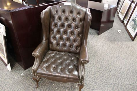 leather wingback chair arm chair leather wingback