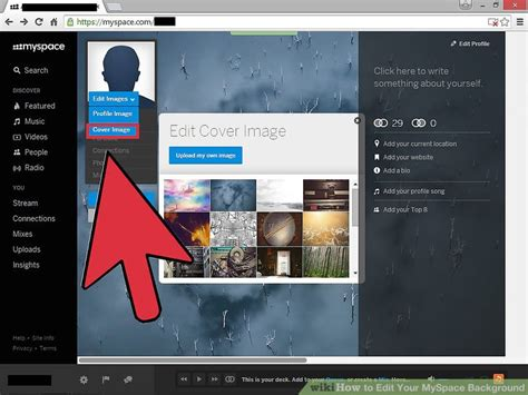 layout editor myspace how to edit your myspace background 6 steps with pictures