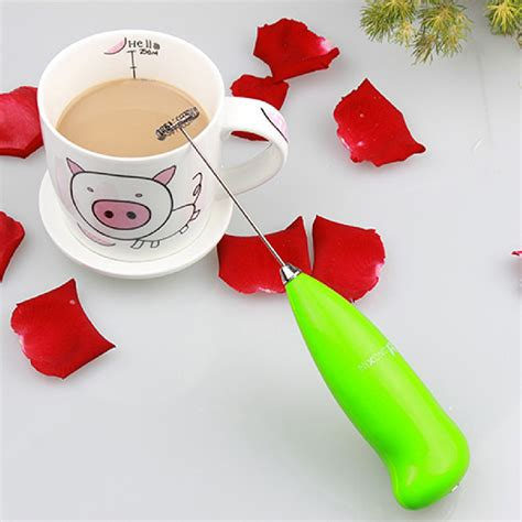 Mokhamano Electric Coffee Egg Beater Whisk Milk Frother With Handle coffee milk drink electric whisk mixer frother foamer egg beater electric mini handle mixer