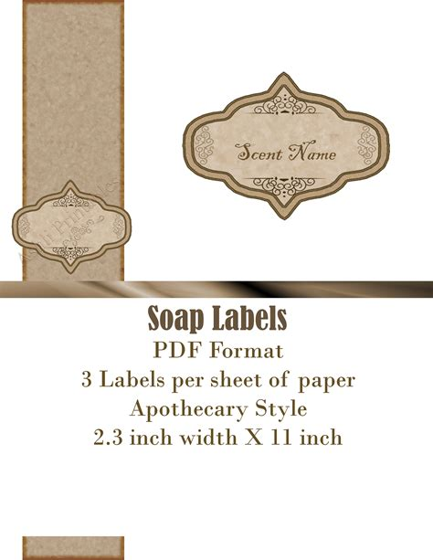 Printable Labels Ashlisoapblog Page 2 Soap Label Templates