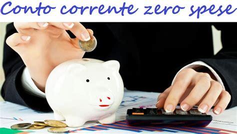 conto zero spese conto corrente zero spese