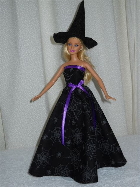 Handmade Witch Costume - doll dress handmade witch costume with hat