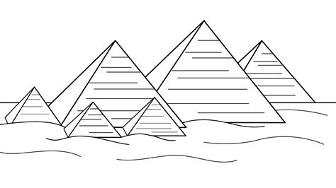 Pyramid Coloring Page free coloring pages of matras