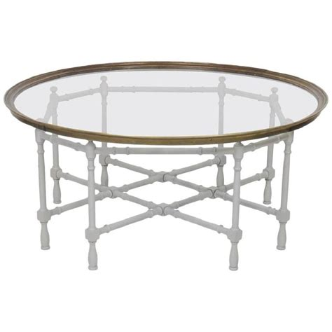 faux bamboo painted tray top coffee table for sale at 1stdibs