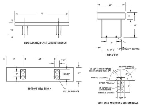 Aldo Leopold Bench Plans by Benches Detail Drawing Decoration News