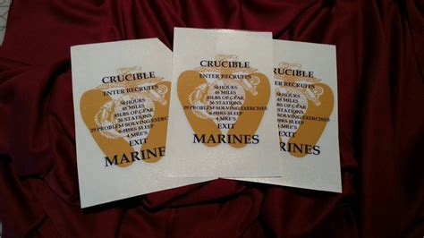 marine corps count cards template united states marine corps usmc crucible candle decal