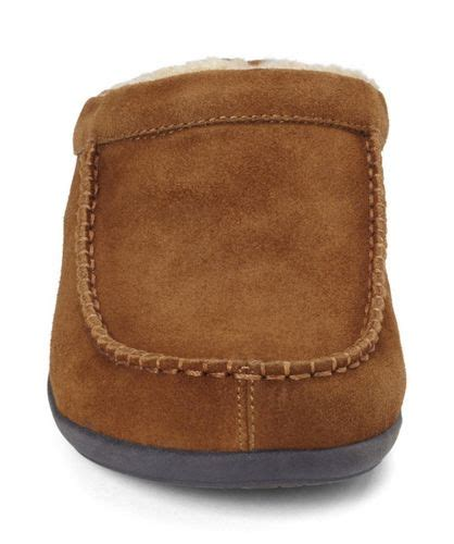 faux shearling slippers vionic barrow mens faux shearling lined slipper free