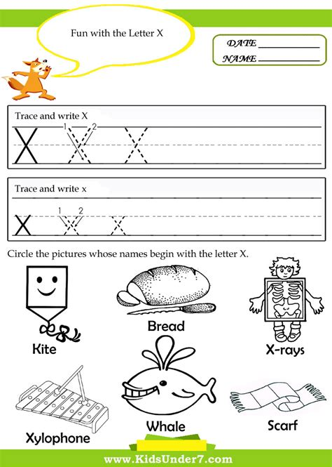 Worksheet For Preschoolers Letter Xx Printables Worksheet Best Free Printable Worksheets Worksheets For Printable