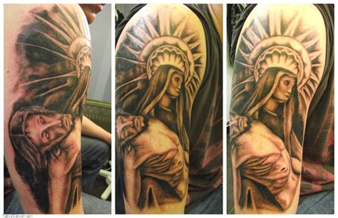 jesus sleeve tattoo designs religious sleeve tattoos design ideas for and