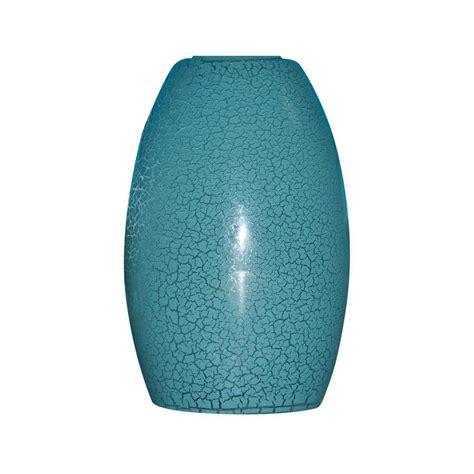 blue pendant light lowes shop portfolio 7 25 in h 4 75 in w blue crackle pendant