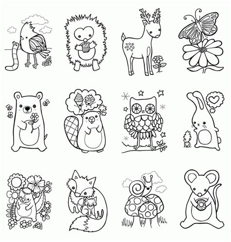 Free Coloring Pages Woodland Animals | woodland animals coloring pages coloring home