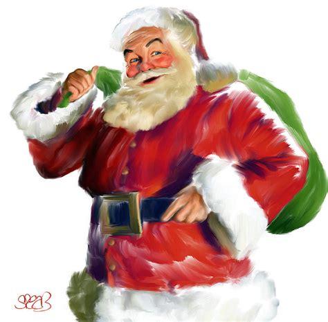 painting santa claus santa claus painting by