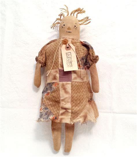 Handmade Primitive Dolls - precious prim primitive handmade raggedy doll by