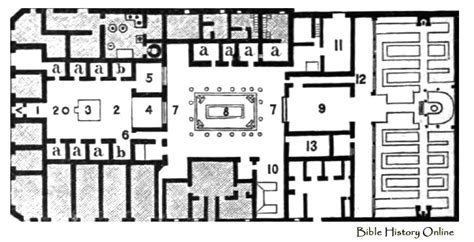 plan of the house plan of the house of pansa images of ancient plans