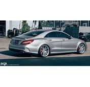 Check Out The Staggered Wheels On This Mercedes Benz CLS