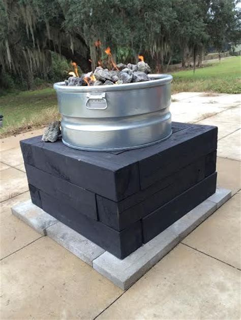 How To Build A Gas Firepit Diy Propane Gas Pit Deck Stuff Pits And Gas Fires