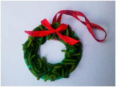 maccaroni christmas decorations how to make wreath pasta ornament