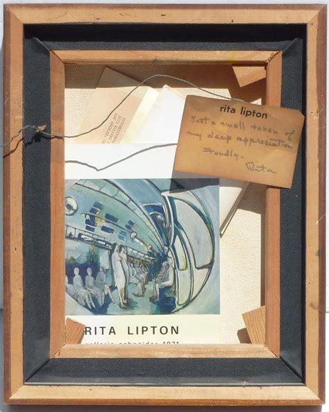 rita lipton   modern mid century abstract oil