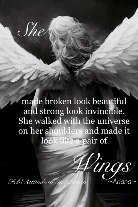 fallen angel tattoo quotes she made broken look beautiful and strong look invincible