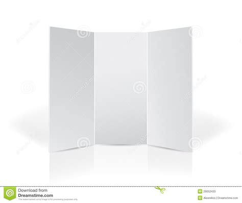 Trifold Black Leaflet Presentation Board Stock Photos Image 29052433 Tri Fold Presentation Board Templates