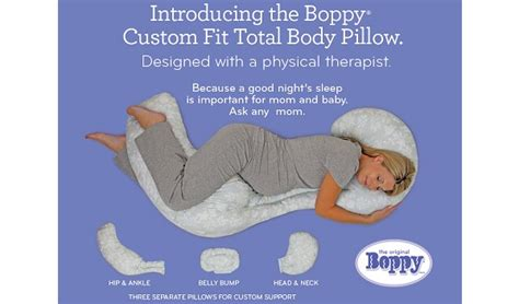 Boppy Total Pregnancy Pillow by Pregnancy Journal Sleeping Comfortably With The Boppy