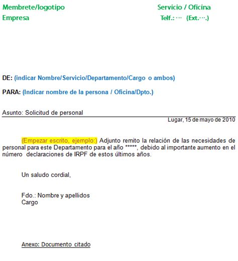 webmail interno pin modelo comunicado interno on