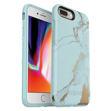 otterbox apple iphone    symmetry case teal marble target