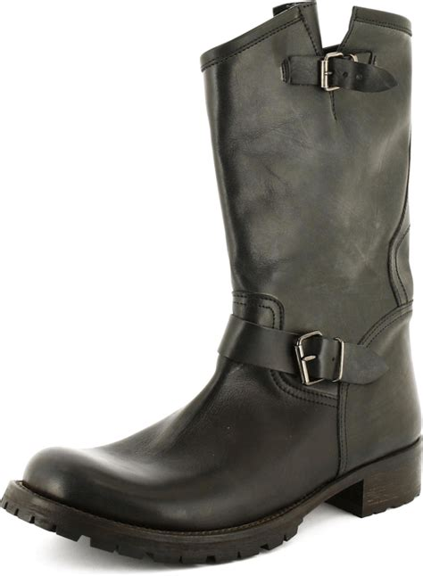 K 246 P Alessandrini Mc Boots Black Leather Gr 229 A Skor