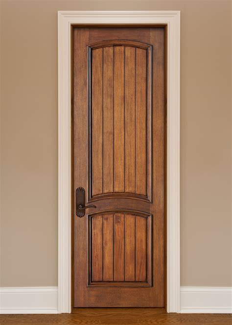 Solid Wood Closet Doors Interior Door Custom Single Solid Wood With Custom Finish Artisan Model Dbi 2050vg