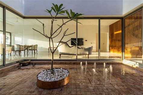 house around a central courtyard charged voids the