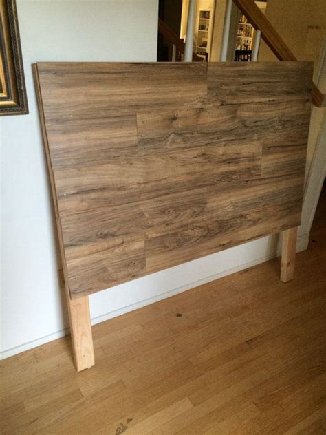 homemade rustic wood laminate headboard