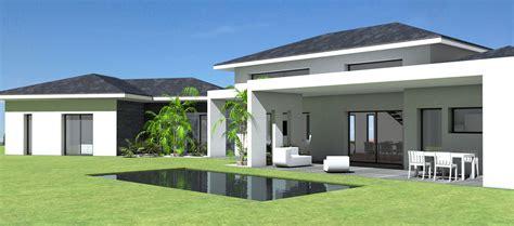 Lovely Salle De Bain Grande Surface #5: Maison-contemporaine-tuiles-noires-grande-terrasse-couverte-patio-1.jpg