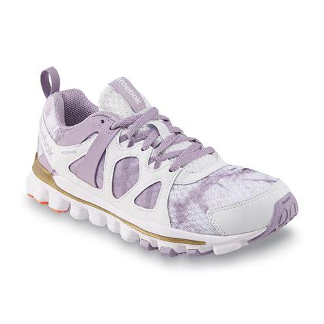 tie dye running shoes reebok s hexaffect run blue lavender white tie dye