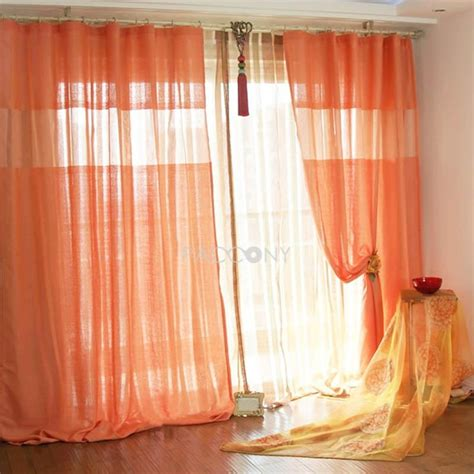 orange linen curtains http www paccony com product select modern flowing solid