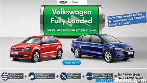 volkswagen polo finance offers india volkswagen introduces fully loaded offer for polo and