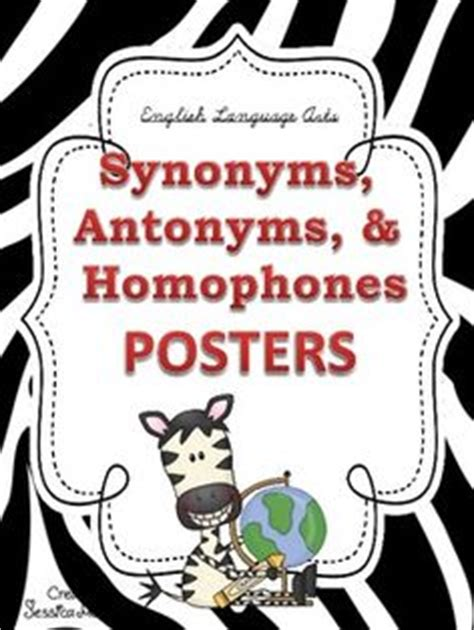 theme synonym and antonym 1000 images about synonyms antonyms homonyms on