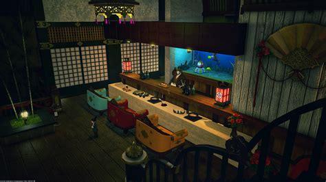 sushi bar design  clean lines ffxiv