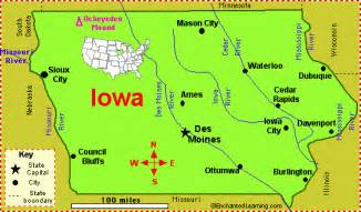 iowa map and iowa satellite images