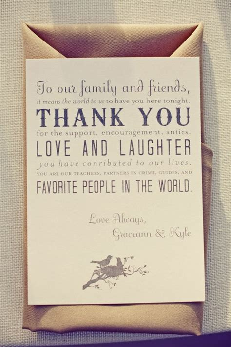 wedding etiquette thank you notes for your guests - Wedding Thank You Note