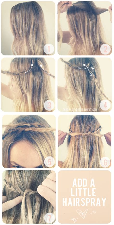 ways to braid your hair for a sew in 7 ways to braid your hair diy braid twist hairstyles