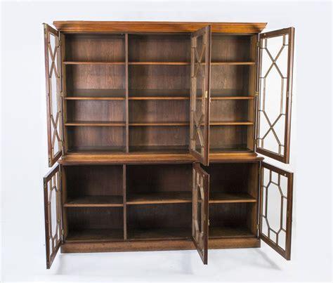 Regent Walnut Bookcase regent antiques bookcases antique edwardian 3 door