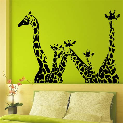 vinyl wall decals giraffe animals jungle safari animal