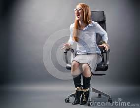 cuffed to chair up no freedom in business royalty free stock