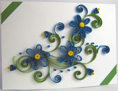 2015 handmade quilling birthday greeting card designs for