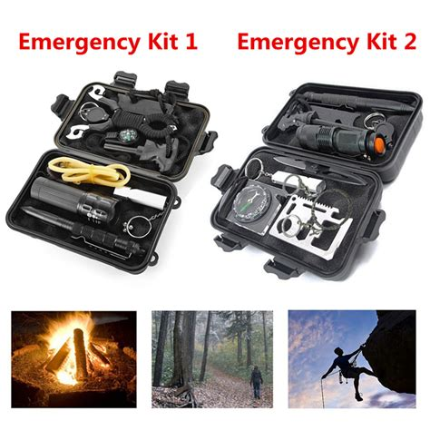 Emergency Gear Outdoor Survival Cing Hiking 8 In 1 Keychain Multi T 8 10 in 1 outdoor professional emergency survival sos kit travel hiking cing ebay