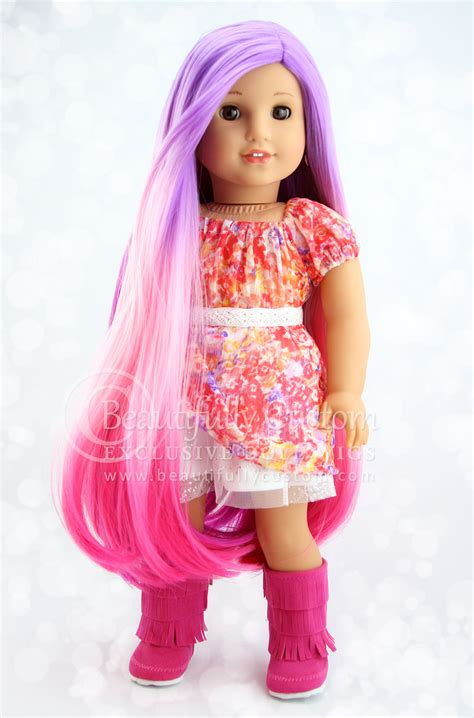 explore luxury wigs sugarplum fairy pink ombre deluxe luxury doll wig for