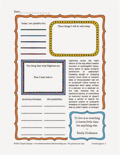 free printable journal pages pinterest adventures in guided journaling printable journal page 2